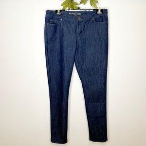 Michael Kors Mid-Rise Dark Wash Skinny Jeans